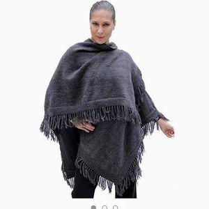 Sweaters - Alpaca wrap/ruana/cape (one size fits all)
